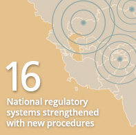 16 National regulatory systems strengthened with new procedures